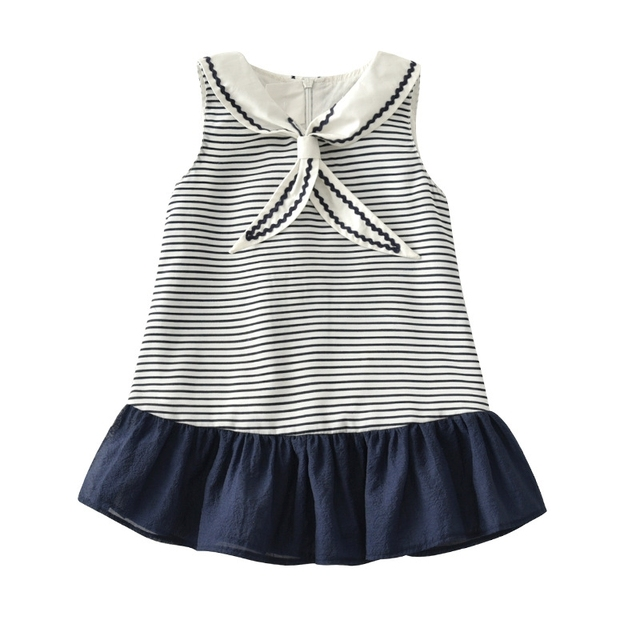 9af920d4b0c8 Newborn baby sleeveless striped dress Lightsome breathe baby girl ...