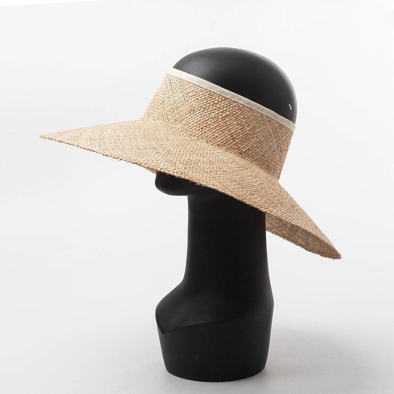Pare-soleil femmes chapeaux emballables pour été plage vacances HatsWide bord fin Bao chapeau de paille Top qualité 691019