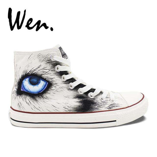 Womens Skateboarding Shoes Canvas Wolf Wolves Sport Sneaker