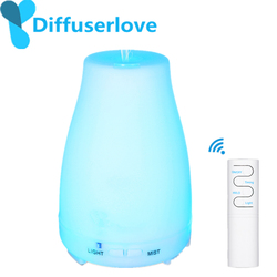 Diffuserlove 220ML Remote Control Ultrasonic Air Humidifier With LED Light Electric Aromatherapy Essential Oil Diffuser