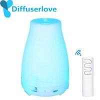 Diffuserlove 220ml umidificador de ar ultra-sônico de controle remoto com luz led difusor de óleo essencial aromaterapia elétrica