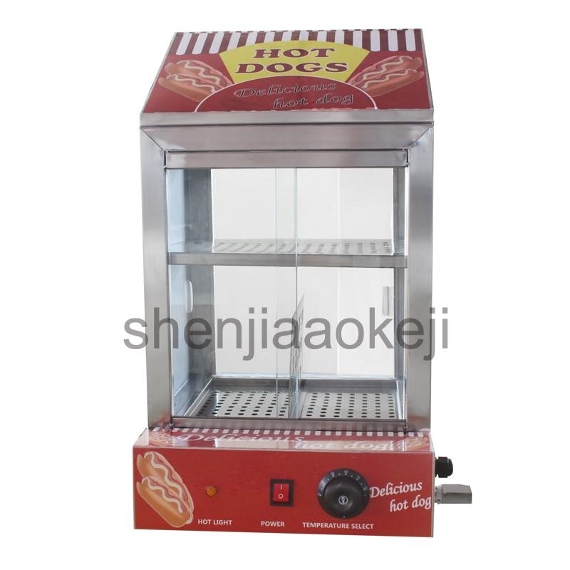 Commercial Snack insulation cabinet Electric Sausage Hot Dog Cooker Hotdog Warmer Hot dog Bun insulation cabine 220v 1500w 1pc