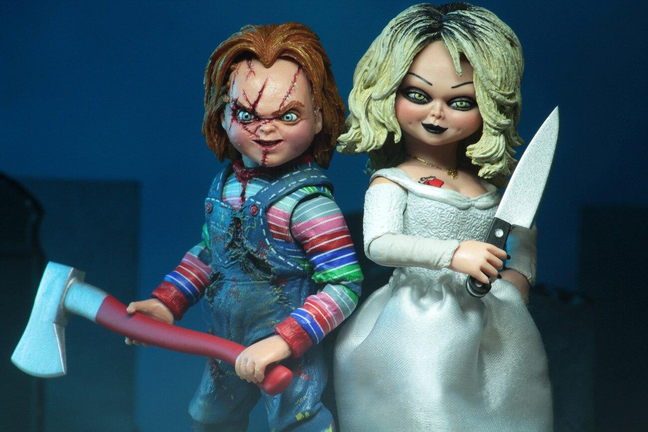 Film enfant jeu NECA mariée de mandrky ultime Chuncky & Tiffany vinyle poupées Figure jouets