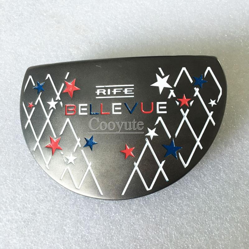 New Cooyute Golf clubs heads RIFE BELLEVUE CNC Golf putter heads black color Golf heads no Clubs shaft Free shipping цены