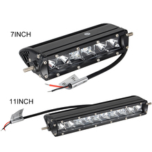 "7"" 11inch Single Row Combo Beam Car MINI LED Work Light Bar For Jeep Motorcycle Automobile Truck ATV SUV 4X4 4WD Offroad Tractor"