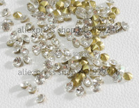 free shipping 800pcs/pack 7mm ss33 round clear crystal loose rhinestone pointback glue on