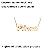 Customize Letter Name 925 Sterling Silver Necklace Pendant Handmade Gold Rose Gold Plated Monogram Necklaces