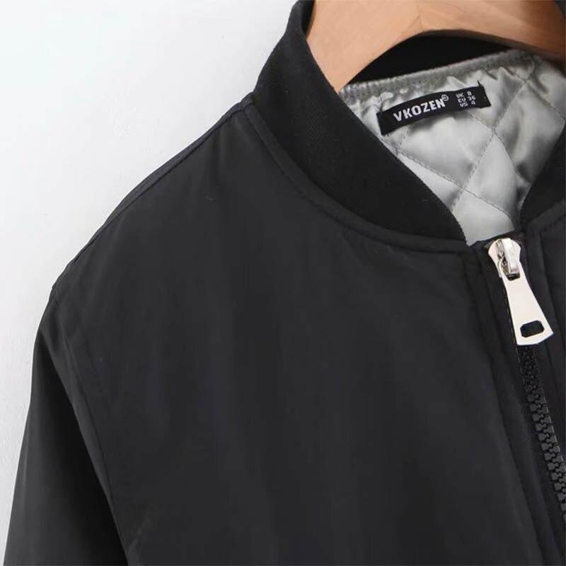 Manteau Manches En Chaud Zipper Longue 2018 Hiver À Longues Coton Nouvelle Décontracté Noir Section 8OAOqPC7