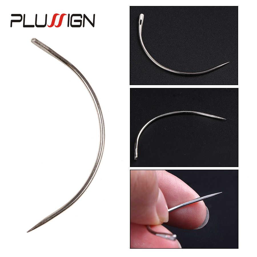 Plussign хорошее качество 12 шт парик делая Шпильки Набор иголок C изогнутые иглы волос Плетение иглы для парика делая моделирование и ремесла
