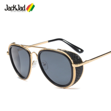 JackJad 2018 Fashion Unique Aviation SteamPunk Style Sunglasses Vintage Side