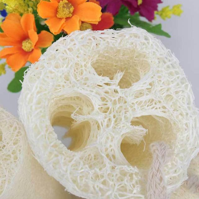Natural Loofah Body Scrub Sponge Bath Rub Cleaning Exfoliating Scrubber Tool for Whole Body Healthy Massage Brush 2