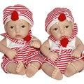 28 см 11 ''Мягкие Куклы Bonecas Bebe Reborn Де Силиконовые Мягкий Полный Винил Детские Живой Мини-Куклы Реалистичные Реалистичные игрушки Хобби