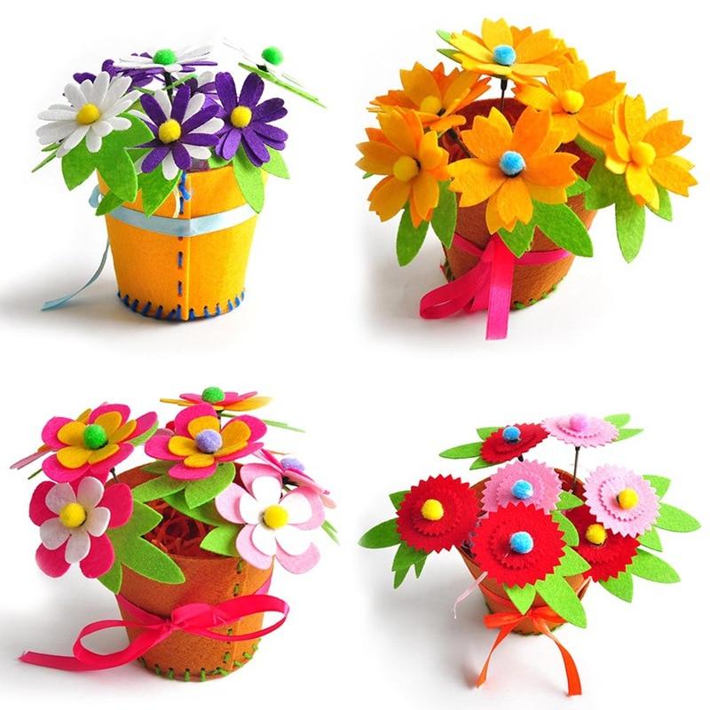Toy Craft-Material-Kits Flower Fabric Kindergarten Educational Kids Diy Creative Children