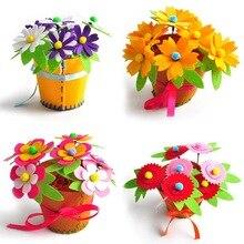 Creative בד בעבודת יד פרח סלי צעצוע ילדים DIY קרפט חומר ערכות יצירתי גן חינוכיים ילדי בנות