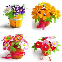 Creative Fabric Handmade Flower Baskets Toy Kids DIY Craft Material Kits Creative Kindergarten Educational Children Girls