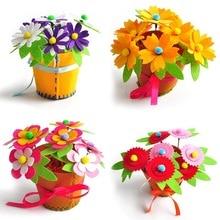 Sáng Tạo Vải Handmade Hoa Giỏ Đựng Đồ Chơi Trẻ Em Tự Làm Thủ Công Chất Liệu Bộ Dụng Cụ Sáng Tạo Mẫu Giáo Giáo Dục Trẻ Em Bé Gái
