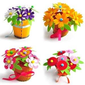 Image 1 - Sáng Tạo Vải Handmade Hoa Giỏ Đựng Đồ Chơi Trẻ Em Tự Làm Thủ Công Chất Liệu Bộ Dụng Cụ Sáng Tạo Mẫu Giáo Giáo Dục Trẻ Em Bé Gái