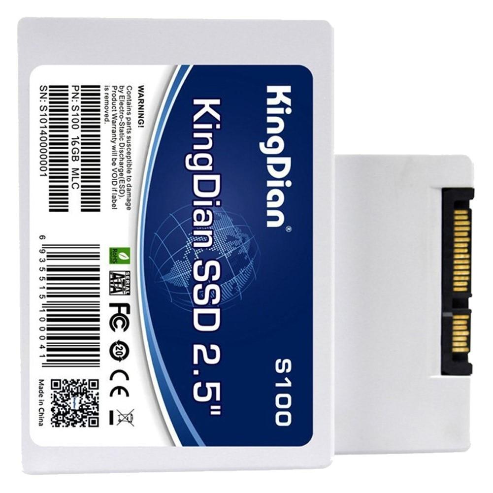KingDian SATA SSD S100 Solid State Drive 8/16/32GB Hot sale SSD Disk 2.5 inch Internal For Laptop Desktop new ssd for x3850 x6 43w7726 50gb sata 1 8 inch hot swap solid state drive 1 year warranty