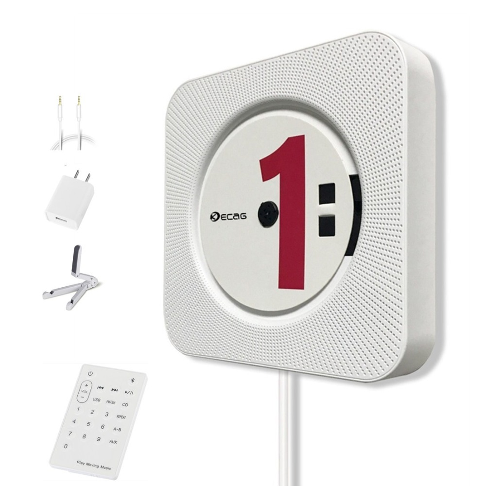 KECAG, <font><b>CD</b></font>-плеер, устанавливается на стене, <font><b>Bluetooth</b></font>, портативный домашний аудио бум бокс с дистанционным управлением, FM радио встроено, Hi-Fi колонки, &#8230;
