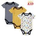 3 pçs/lote Carros Dos Desenhos Animados pijamas fantasias infantil macacão de bebê macacão de algodão infantil Bordado romper recém KD097