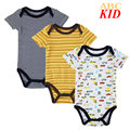 3 unids/lote Coches de Dibujos Animados pijamas fantasias algodón Bordado mameluco recién nacido mono infantil de los mamelucos del bebé infantil KD097