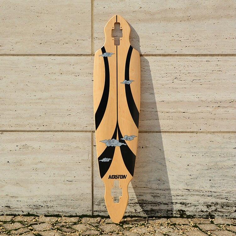 KOSTON pro longboard pont avec 8ply érable canadien chaude air comprimé, tomber à travers planches à roulettes à long pour la croisière