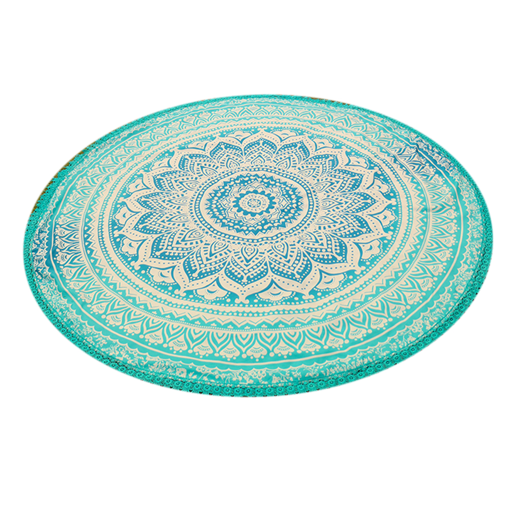 Handmade Summer Beach Towels Floral Printed Lace Tassels Round Blanket Bath Towel Swim Cover-ups High water absorbent Yoga Mat 14