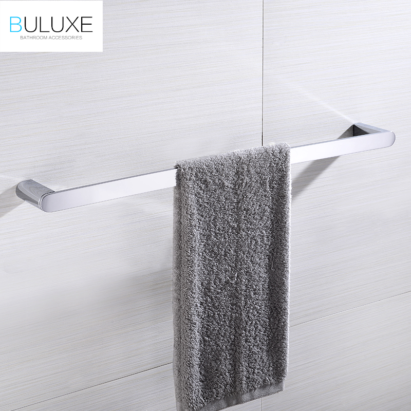 BULUXE Brass Bathroom Accessories Towel Bar Rack Holder Chrome Finished Wall Mounted Bath Acessorios de banheiro HP7735 buluxe brass bathroom accessories towel bar rack holder chrome finished wall mounted bath acessorios de banheiro hp7736