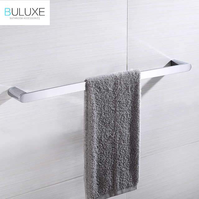 buluxe brass bathroom accessories towel bar rack holder chrome finished wall mounted bath acessorios de banheiro - Bathroom Accessories Towel Bars