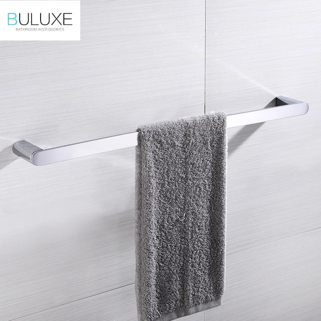 BULUXE Brass Bathroom Accessories Towel Bar Rack Holder Chrome Finished  Wall Mounted Bath Acessorios De Banheiro