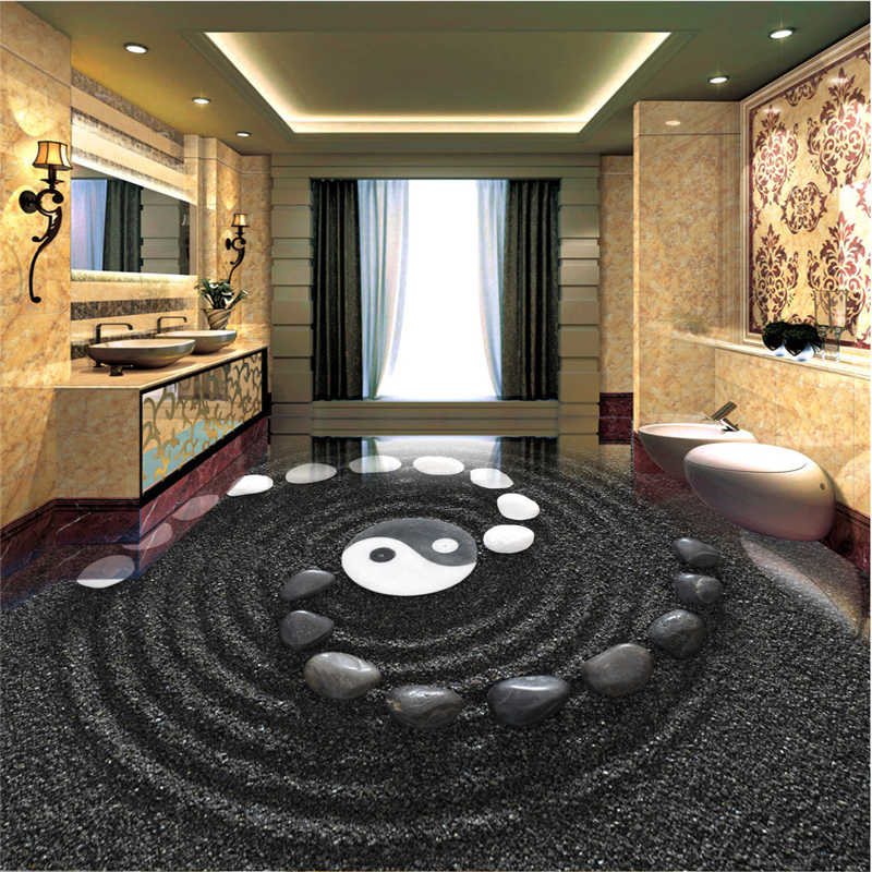 beibehang Customize any size mural black sand cobblestone bathroom 3D art floor papel de parede 3d para sala atacado papel de parede 3d paisagem ретро мультфильм автомобилей mural обои ktv бар кафе личности creative 3d настенной росписи стен