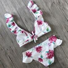 bikini brazilian Women Swimsuit Flower Print