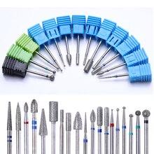 19 Тип 3/32 ''сверло для ногтей фрезерный маникюрный станок Электрический Шлифовальный Инструмент Педикюр ногтей дрель пилка для ногтей