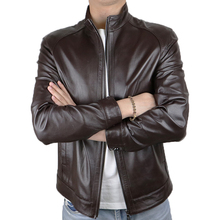 2020 Summer men's genuine leather jacket casual and motorcycle leather