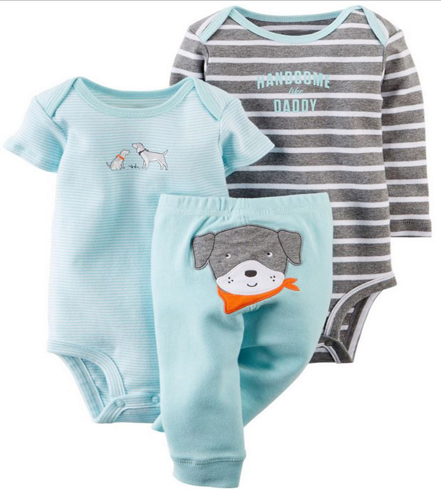 Original Baby Girls Boys clothing sets ,conjuntos Clothes Baby bebes Girls Boys 3-piece Bodysuit Pant Set , standard shipping