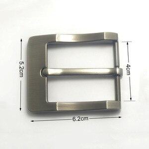 Image 3 - מתכת 4cm חגורת אבזם גברים של מזדמן סוף בר העקב בר סיכה אחת חגורת חצי אבזם עור קרפט ג ינס חגורה fit עבור 38mm חגורה