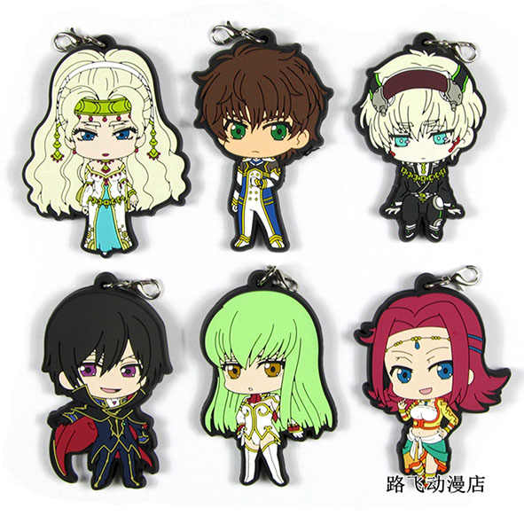CODE GEASS Lelouch do RE: surrection Original Japonês anime figura de borracha encantos do telefone móvel cinta keychain