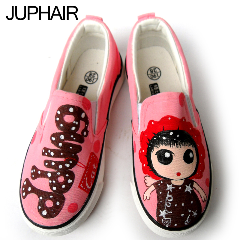 ФОТО JUP 10 Style Hand-Painted Canvas Shoes Personalized Female Shoes Girl Boy Despicable Me Minion Spongebob Mask Low Top Flat Shoes