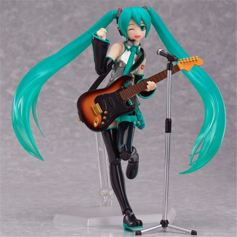Anime Hatsune Miku Sexy Figure Figma 200 PVC Action Figure Collectible Model Kids Toys Doll 14CM novelty 14cm can be opened leather sexy anime figure sex toy pvc action figure collectible figuras anime model toys funny toys