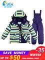 2019 SP-SHOW-35 grad russland Winter kinder Outwear jungen schnee anzug dicke jacken Kinder kleidung mädchen ski jacke anzug set