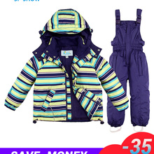 Children's Boys Girls Ski Jacket With Overalls 2pcs