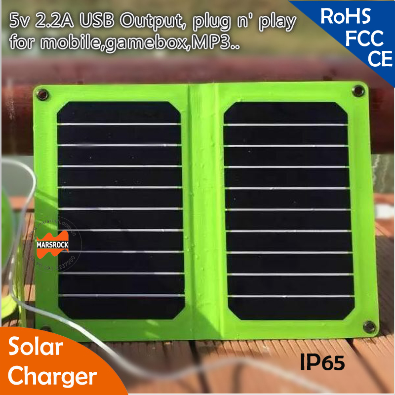 Highest Efficiency 11W 5V  Foldable Sunpower Solar Panel with USB Outlet for Charging Mobile Phone, Laptop, Tablet, outdoor use