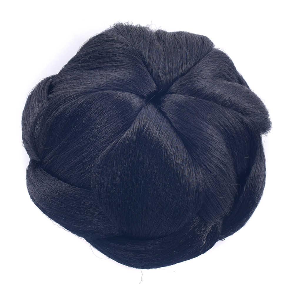 Soowee блондинка плетеные Клип В поддельные волосы булочка синтетические волосы Chignon быстро Bun Donut ролика шиньоны для Для женщин