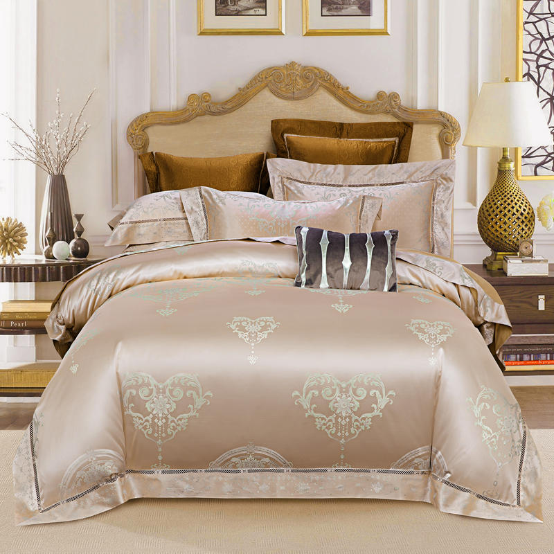 Silk Satin King size Bedding Set Luxury Queen size Cotton Bed sheet Fitted sheet Duvet cover