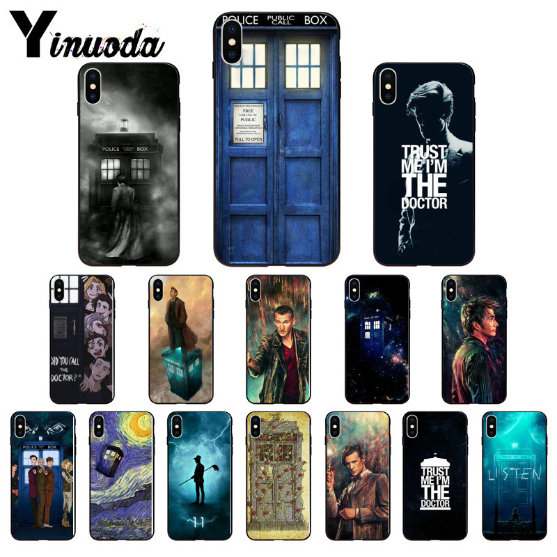 Enthusiastic Yinuoda Tardis Box Doctor Who Newly Arrived Cell Phone Case For Iphone 5 5sx 6 7 7plus 8 8plus X Xs Max Xr Factory Direct Selling Price Half-wrapped Case