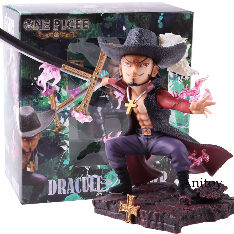 Anime One Piece GK Dracule Mihawk Battle Ver. PVC One Piece Mihawk Figure Collectible Model Toy