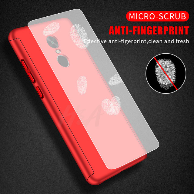 360 Full Cover Protection Phone Case For Xiaomi Redmi Note 4 4X Case For Redmi Note 4 Global Version Case With Tempered Glass