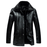 Mens Leather Jackets 2017 Winter New Fashion Comfortable Casual Leather Coat Men High Quality Luxry Brand