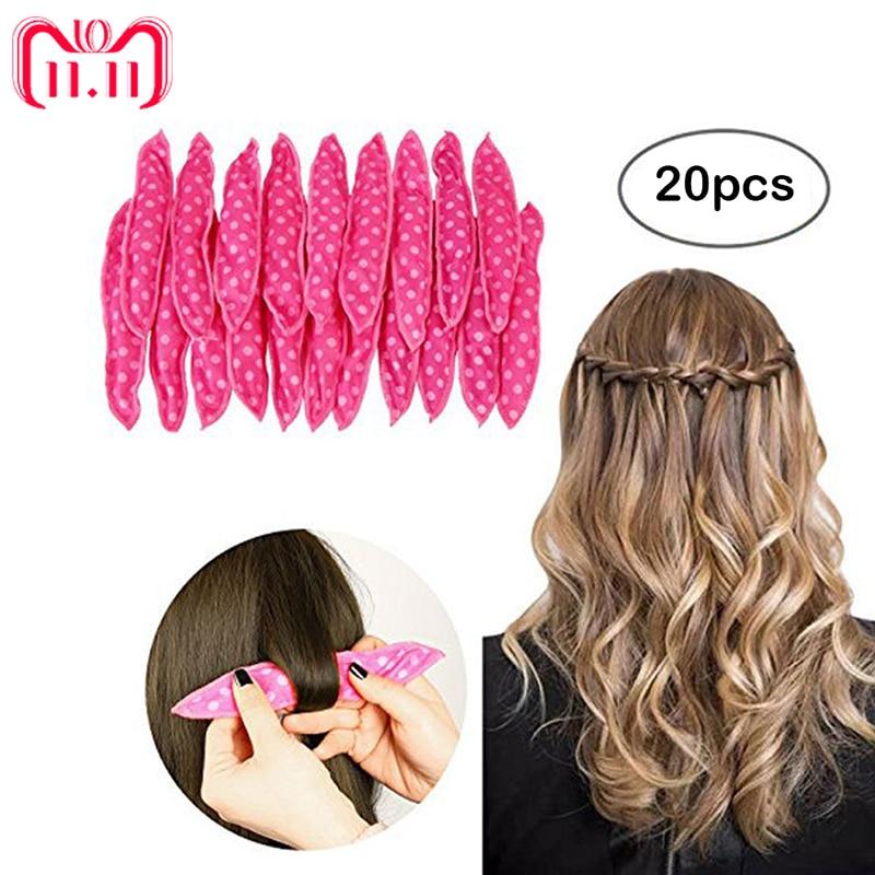 20pcs/lot Magic Sponge Pillow Soft Hair Roller Best Flexible Foam and Sponge Hair Curlers DIY Styling Hair Rollers Curl Tools цены