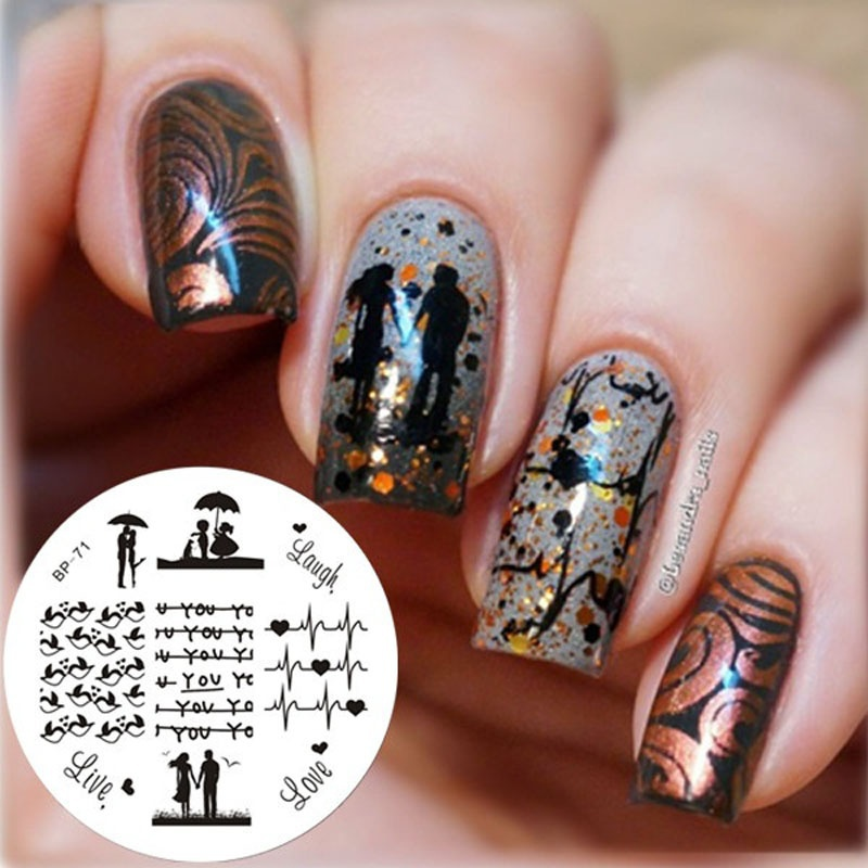 Love Birds Nail Art: Aliexpress.com : Buy 1 Pcs Love Birds Pattern Nail Art